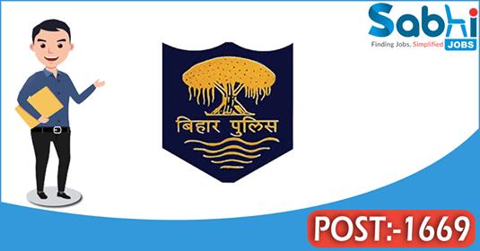 Bihar Police recruitment 1669 Constable Driver, Firemen Driver