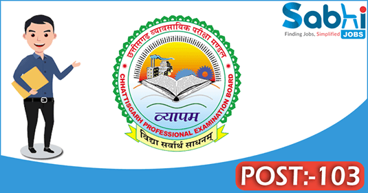 CG VYAPAM recruitment 103 Lekhapal