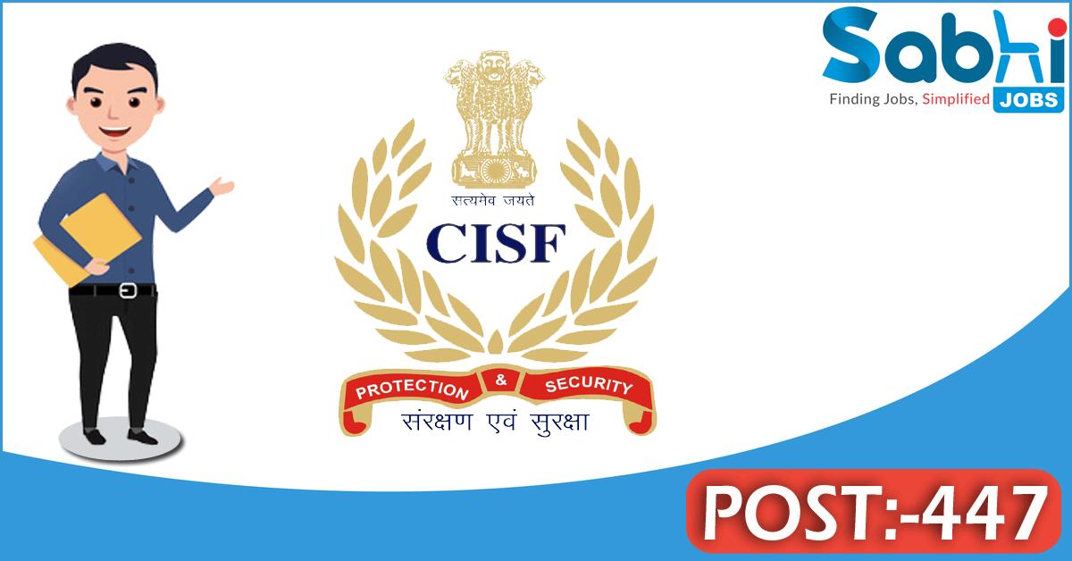 CISF recruitment 447 Constable