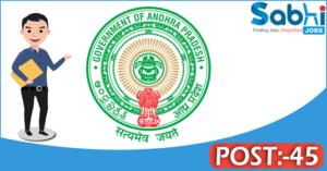 Government of Andhra Pradesh recruitment 2018 notification 45 Office Subordinate, Watchman
