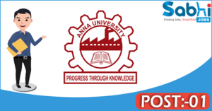 Anna University recruitment 2018 notification 01 Project Assistant