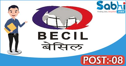 BECIL recruitment 08 Executive Consultant, Start-up Fellow