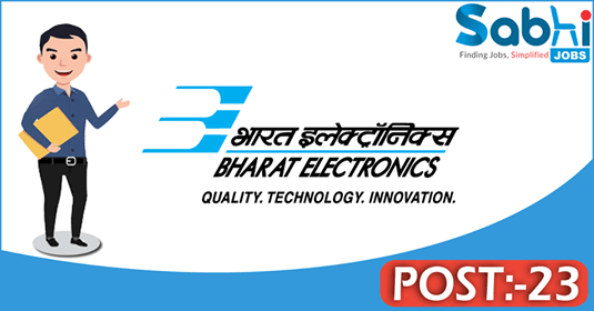 BEL recruitment 23 Deputy Engineer