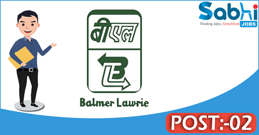 Balmer Lawire recruitment 02 Junior Officer
