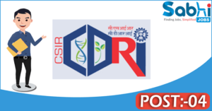CDRI recruitment 2018 notification apply 04 Project Assistant, Project SRF