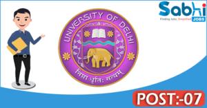 Delhi University recruitment 2018 notification 07 Senior Technical Assistant, Junior Assistant