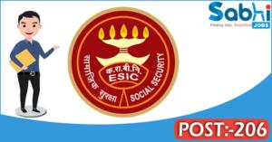 ESIC recruitment 2018 notification 206 Professor, Associate Professor, Assistant Professor