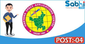 HARSAC recruitment 2018 notification Apply for 04 Senior Project Assistant
