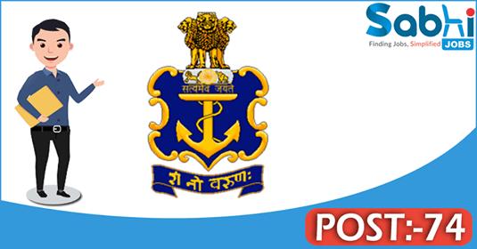 Indian Navy recruitment 74 Firemen, Pest Control Worker