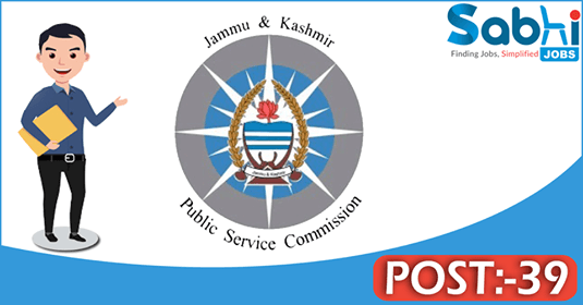 JKPSC recruitment 39 Medical Officer