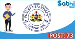 Karnataka Forest Department recruitment 2018 notification 73 RFO