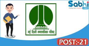 NDMC recruitment 2018 notification Apply 21 Senior Residents