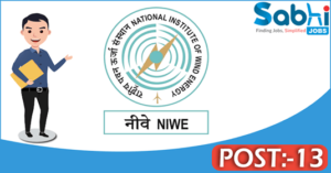 NIWE recruitment 2018 notification 13 Project Engineer, Junior Executive Assistant