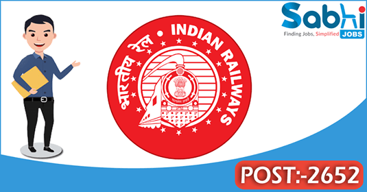 Southern Railway recruitment 2652 Act/Trade Apprentices