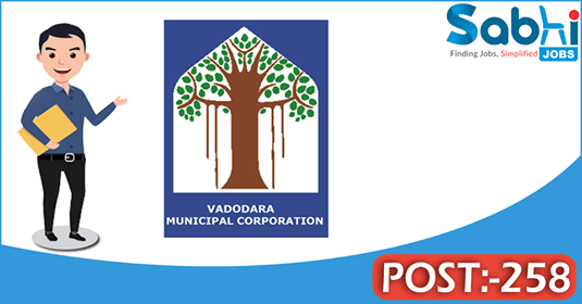 Vadodara Municipal Corporation recruitment 258 Staff Nurse