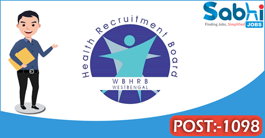 WBHRB recruitment 1098 General Duty Medical Officer