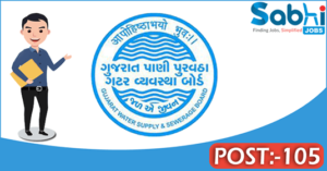 GWSSB recruitment 2018 notification Apply online 105 Additional Assistant Engineer