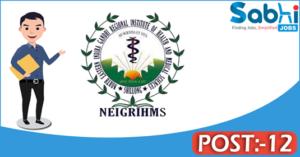 NEIGRIHMS recruitment 2018 notification 12 Radiographer, Junior Engineer