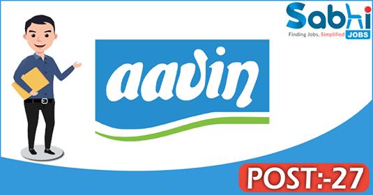 AAVIN Milk recruitment 27 Executive, Senior Factory Assistant