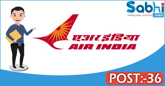 Air India recruitment 36 Trainee Tradesmen, Assistant Supervisor