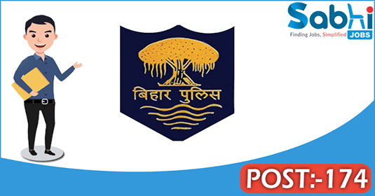 Bihar Police recruitment 174 Steno Assistant Sub Inspector