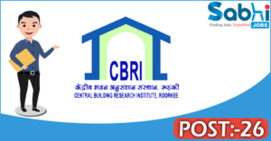 CBRI recruitment 2018 notification 26 Project Assistant, JRF