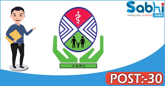 CGHS recruitment 30 Pharmacist