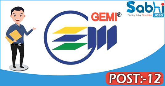 GEMI recruitment 12 Professional