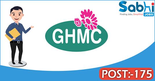 GHMC recruitment 175 Non-Technical Work Inspectors