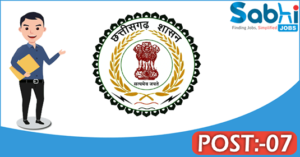 Government of Chhattisgarh recruitment 2018 notification 07 Technical Assistant