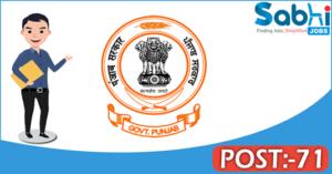 Government of Punjab recruitment 2018 notification 71 Clerk-cum-Data Entry Operator, Steno-Typist