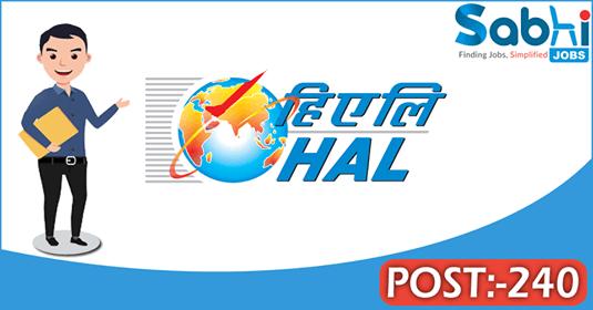 HAL recruitment 240 Graduate Apprentice, Diploma Apprentice