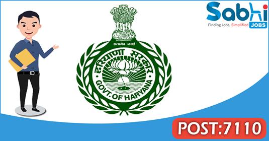 HSSC recruitment 7110 Male Constable, Sub Inspector