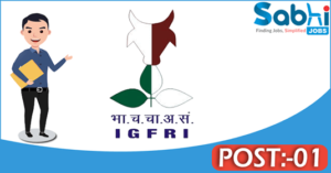IGFRI recruitment 2018 notification Apply 01 Research Associate