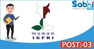 IGFRI recruitment 2018 notification 03 Senior Research Fellow, Young Professional