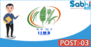 IIMR recruitment 2018 notification Apply application for 03 RA, SRF
