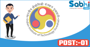 IIT Guwahati recruitment 2018 notification 01 Laboratory Assistant