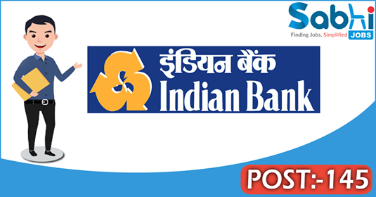 Indian Bank recruitment 145 Specialist Officers