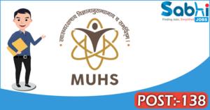 MUHS recruitment 2018 notification 138 Dean/Principal, Lecturer