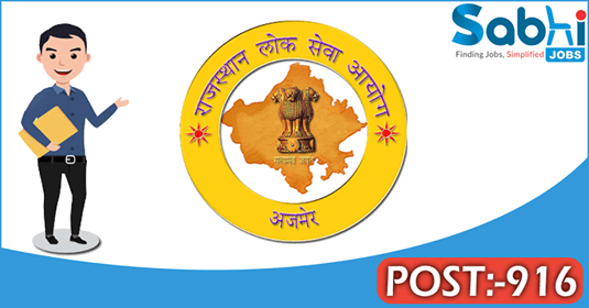 RPSC recruitment 916 Assistant Engineer