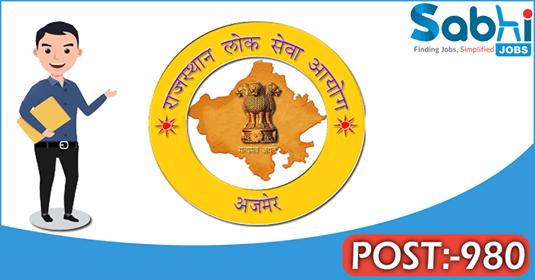 RPSC recruitment 980 Rajasthan Account Tehsildar Service
