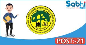 TFRI recruitment 2018 notification Apply 21 Forester, Multi-Tasking Staff