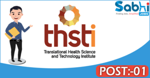 THSTI recruitment 2018 notification Apply 01 Section Officer