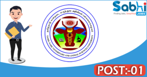 TANUVAS recruitment 2018 notification Apply for 01 Post-Doctoral Fellow