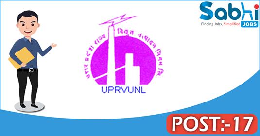 UPRVUNL recruitment 17 Staff Nurse, Dreiser cum Fast Adar