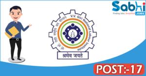 VVGNLI recruitment 2018 notification 17 Research Associates/ Consultants, Computer Operator, Field Investigators