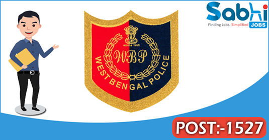 West Bengal Police recruitment 1527 Sub-Inspector of Police