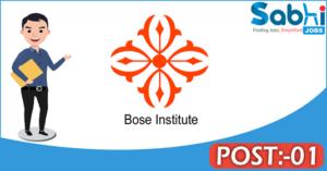 Bose Institute recruitment 2018 notification Apply 01 Research Associate