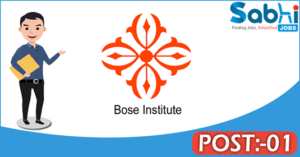 Bose Institute recruitment 2018 notification Apply 01 Junior Research Fellow