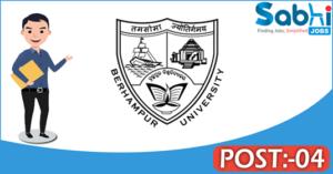 Berhampur University recruitment 2018 notification Apply 04 Project Scientist, Project Fellows
